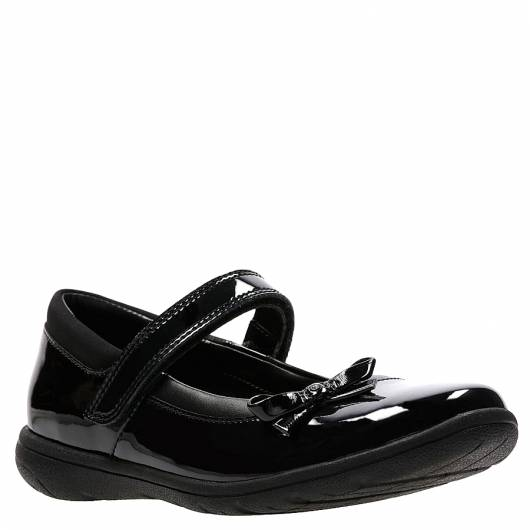 CLARKS - VENTURE STAR BLACK PATENT LEATHER -