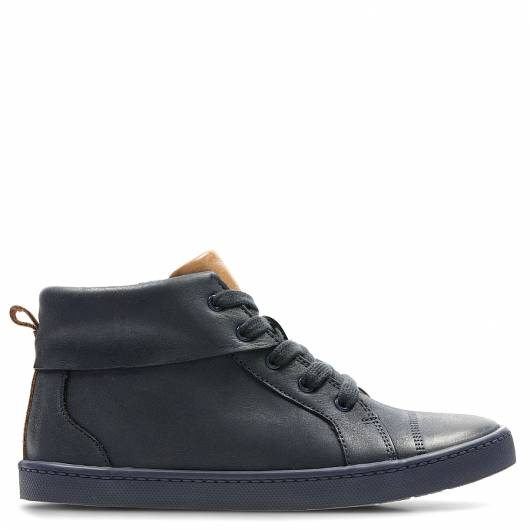 CLARKS - CITY OASIS HI 26137886 NAVY LEATHER -