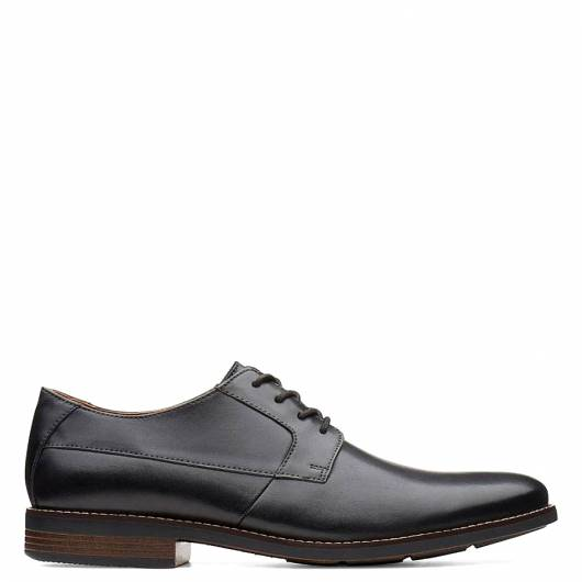 CLARKS - BECKEN PLAIN 26123148 BLACK  LEATHER -