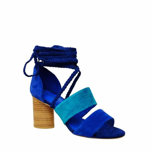 JEFFREY CAMPELL - ΠΕΔΙΛΑ  50123A LOW HEELED  NAVY/BLUE -
