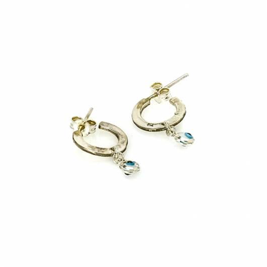 3rd Floor - Χειροποίητα σκουλαρίκια Hana Eye - 108-F3-15S Ασήμι 925ο ... 1b5a9e988dd