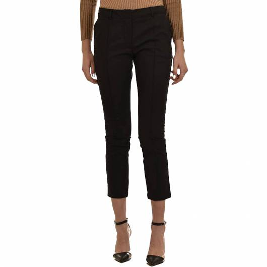 MILLA - Trousers Straight Fit 110111-003 Black -