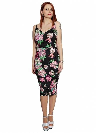 ACCESS - TOP ΜΕ FLORAL PRINT 19-2045-170 BLACK -