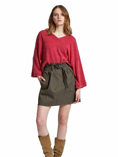 MOUTAKI - SKIRT 19.02.104 KHAKI -
