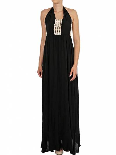 MOUTAKI - MAXI DRESS 19.07.12 BLACK -