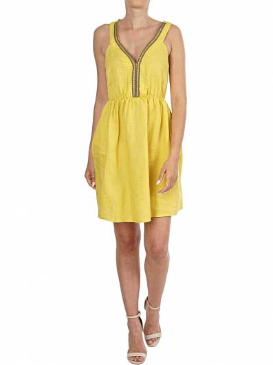 MOUTAKI - DRESS 19.07.61 YELLOW -