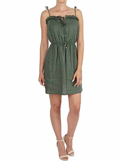 MOUTAKI - DRESS 19.07.70 KHAKI -