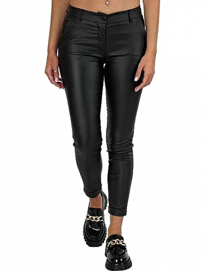MOUTAKI - Trouser Eco Leather 20.03.105 Black -