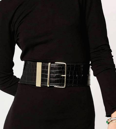 LEATHER TWIST - Donna Leather Belt 21.32 Black -