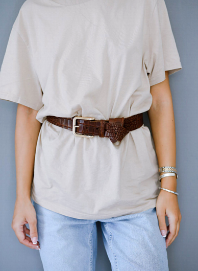 LEATHER TWIST - Thetis Leather Belt 21.33 Brown -