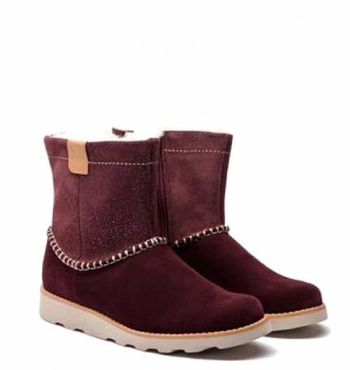 CLARKS - CROWN PIPER 26138508 BURGUNDY SUEDE