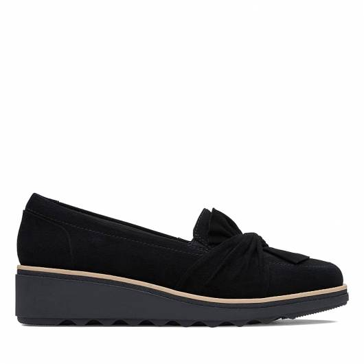 CLARKS - SHARON DASHER 26138553 BLACK SUEDE