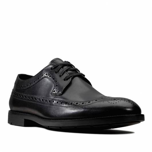 CLARKS - RONNIE LIMIT 26143811 BLACK LEATHER