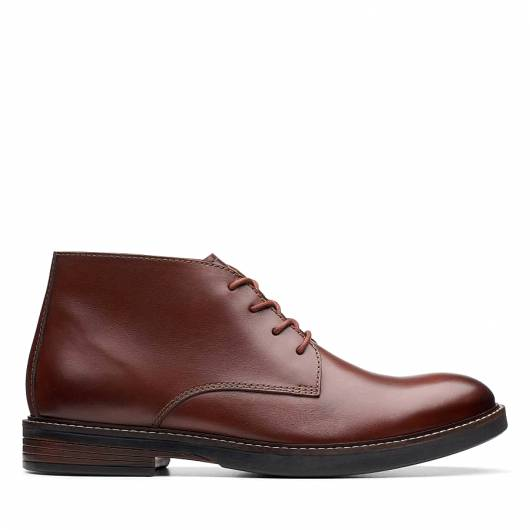 CLARKS - Paulson Mid 26144781 Mahogany Leather