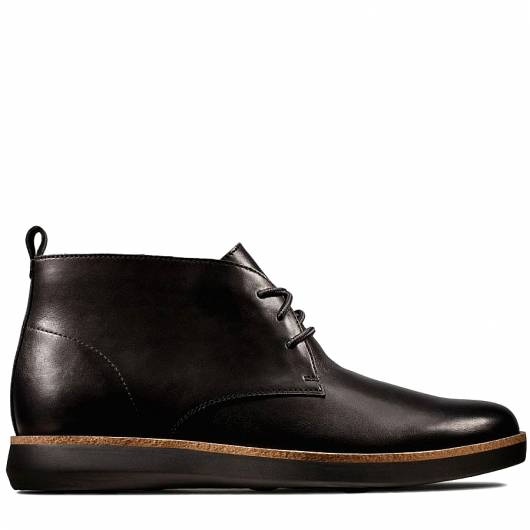 CLARKS - FAIRFORD MID 26145259 BLACK LEATHER