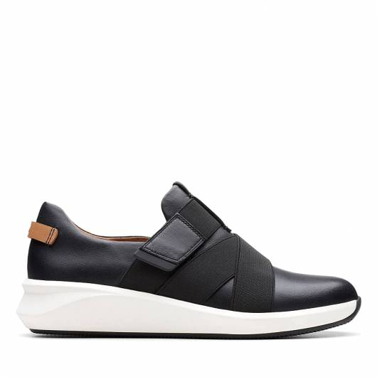 CLARKS - UN RIO STRAP 26145614 BLACK LEATHER