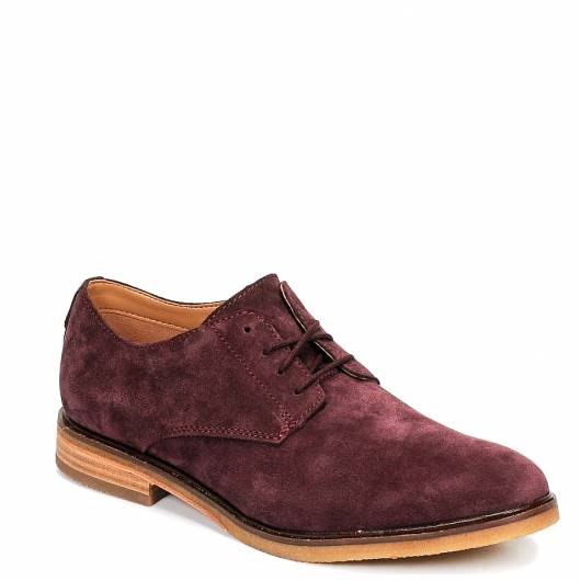 CLARKS - CLARKDALE MOON 26145639 BURGUNDY SUEDE
