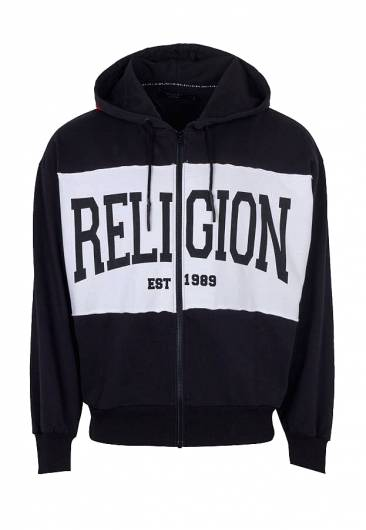 RELIGION - ESTABLISHED HOODIE 39BETJ36 BLACK & WHITE