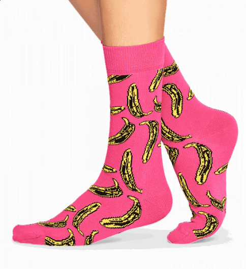 HAPPY SOCKS - ANDY WARHOL BANANA SOCK AWBAN01-3000 -