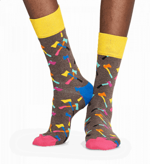 HAPPY SOCKS - AXE SOCK AXE01-8000 -
