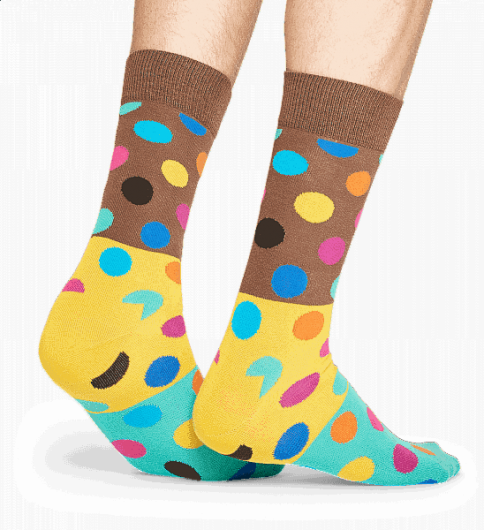 HAPPY SOCKS - BIG DOT BLOCK SOCK BDB01-8000 -