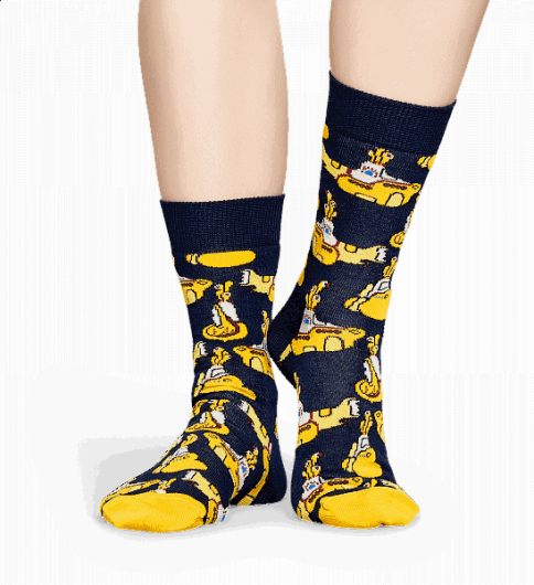 HAPPY SOCKS - YELLOW SUBMARINE SOCK BEA01-6000 -