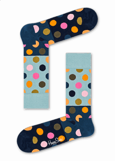 Happy Socks - BIG DOT BLOCK SOCK BDB01-6002 -