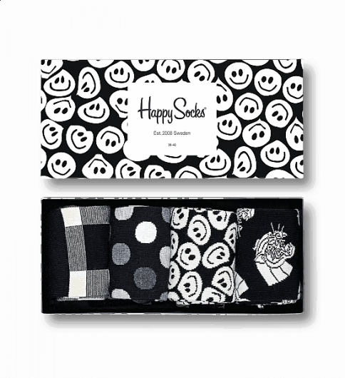 Happy Socks - BLACK & WHITE GIFT BOX XBLW09-9003 -