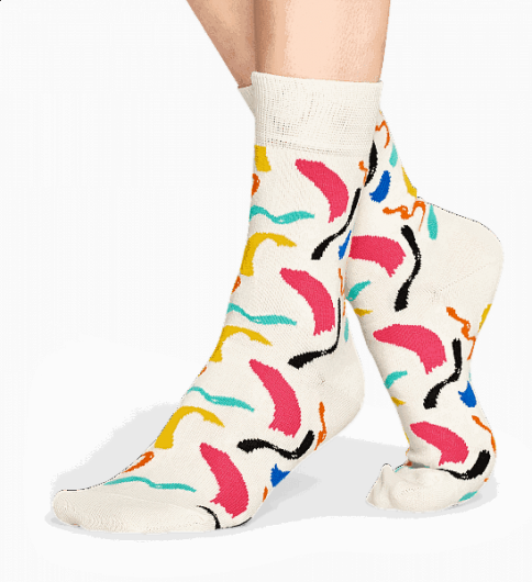 HAPPY SOCKS - BRUSH STROKE SOCKS BRU01-1000 -