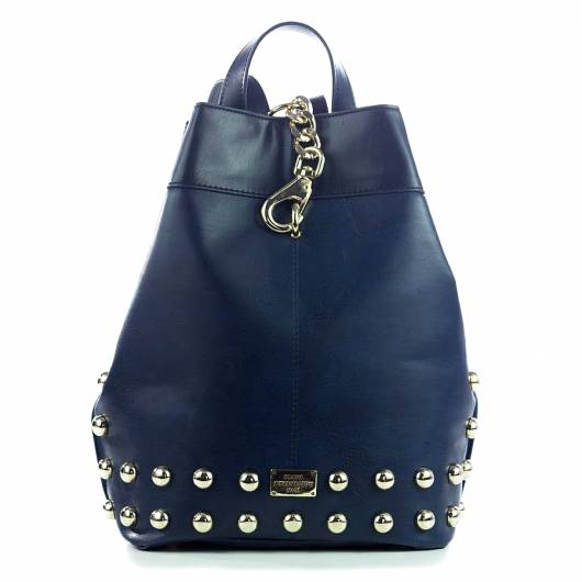 Elena Athanasiou - Black n Metal Backpack Blue -