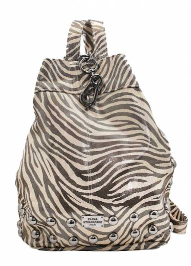 Elena Athanasiou - Black n Metal Backpack Zebra -