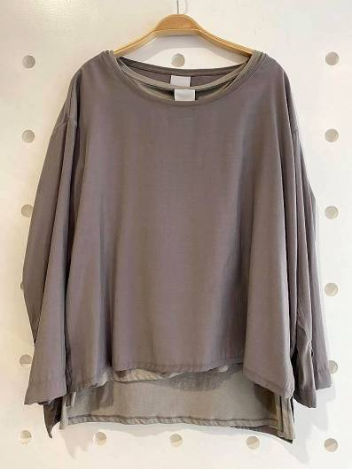 LOTUS EATERS - Blouse 2 Pieces Blek Grey -