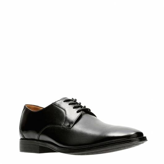 CLARKS - GILMAN LACE 26127654 BLACK  LEATHER -