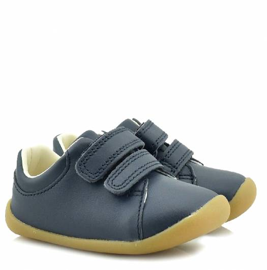 CLARKS - ROAMER CRAFT T 26142286 NAVY LEATHER -