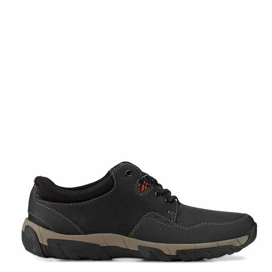 CLARKS - WALBECK EDGE 26138656 BLACK LEATHER