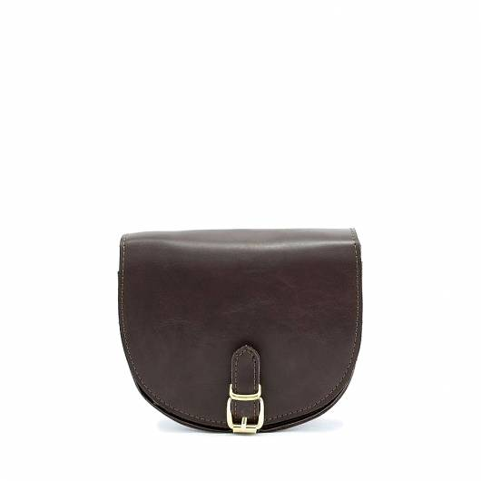 Elena Athanasiou - Recycled Leather Crossbody Brown -