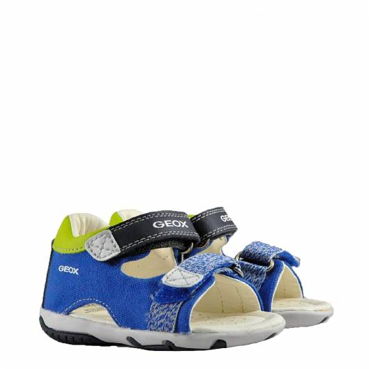 GEOX - B SANDAL ELBA BOY - CANVAS+GEOBUCK - ROYAL/NAVY -
