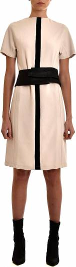 LOTUS EATERS - Dress S-Slv Vegan Leather Cream -