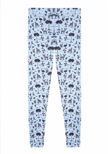 COMPANIA FANTASTICA - BLUE SAFARI PRINT LEGGINGS FA19HAN113 -