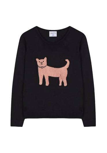 COMPANIA FANTASTICA - BLACK CAT KNITTED JUMPER FA19NOI01 -