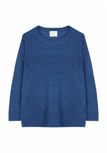 COMPANIA FANTASTICA - BLUE WIDE FANTASY STITCH JUMPER FA19YIS02 -