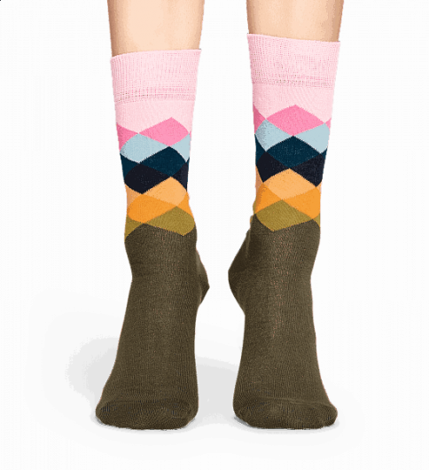 HAPPY SOCKS - FADED DIAMOND SOCK FAD01-7001 -