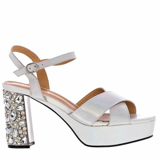 FAVELA - HEELED PLATFORMS 116538 WHITE -