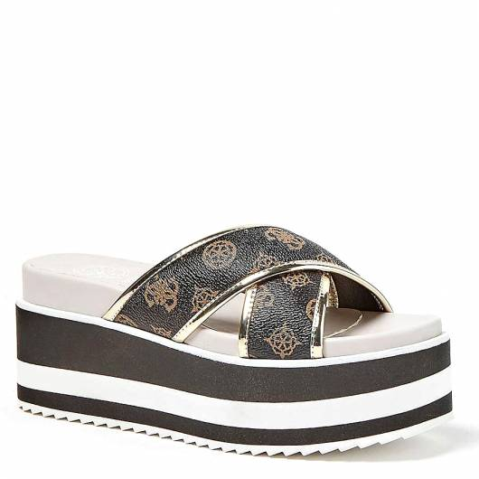 GUESS - REMINA SANDAL FL6REMFAL19 Brown multi