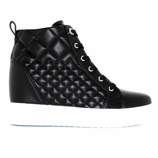 GUESS - FASE QUILTED WEDGE SNEAKER FL7FAEELE12 - BLACK