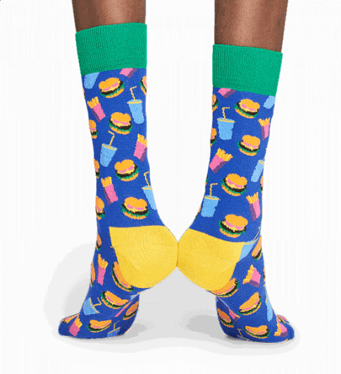 Happy Socks - HAMBURGER SOCK HAM01-6000 -