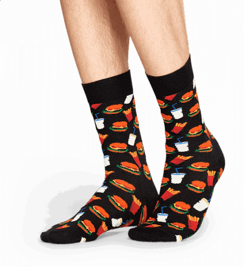 Happy Socks - HAMBURGER SOCK HAM01-9000  -