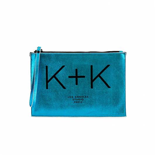 KENDALL + KYLIE - Clutch bag blue metallic white snake HBKK-219-0008-54 -