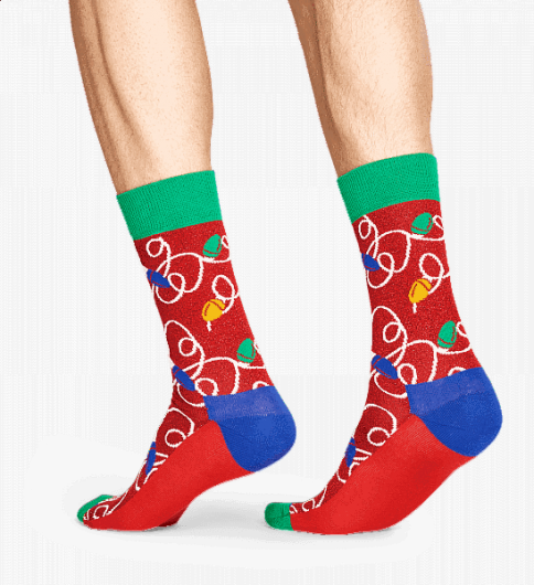 HAPPY SOCKS - HOLIDAY LIGHTS SOCK HLI01-4000 -