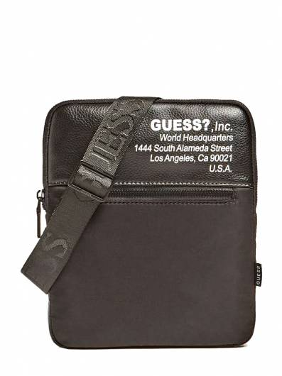 Guess - Τσάντα Crossbody Massa Logo HMMSM1P1123 Black